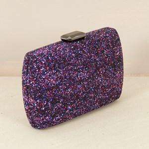 Glamour Glitter Facet Clasp Clutch
