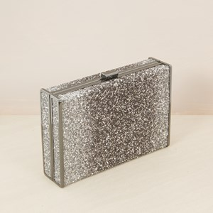 Textured Glitter Large Ombre Clutch