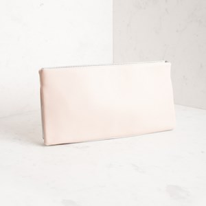 Two Tone Double Base Rectangle Clutch