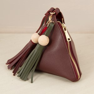 Double Tassel Triangle Wrist Bag