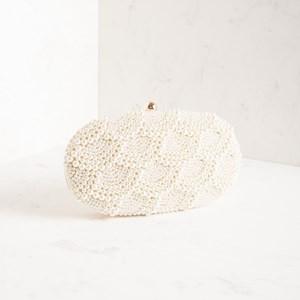 Scallop Pearl Structured Clutch