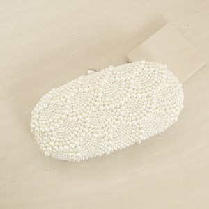 Scallop Pearl Structured Clutch