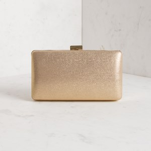 Essential Rectangle Clasp Structured Clutch