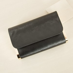 Faux Tiger Curved End Clutch