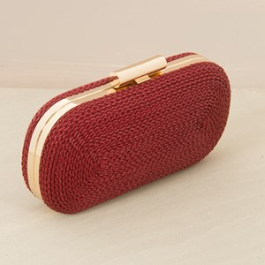 Plaited Rope Curved Clutch