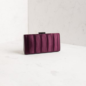 Interval Pleat Satin Clutch