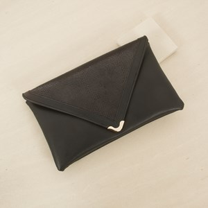 Snake V Envelope Clutch
