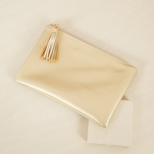 Tassel Zip Top Purse