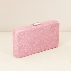 Rounded Edge Rectangle Glitter Clutch