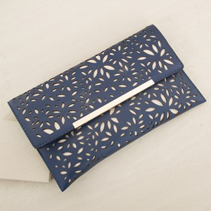 Almond Flower Cut Out Foldover Clutch