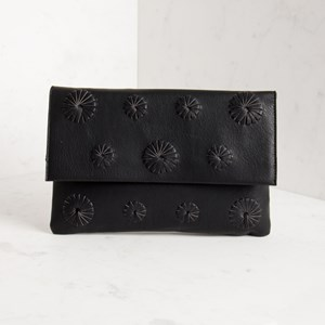 Abstract Flowers Flap Over Clutch