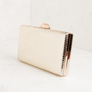 Embossed Metallic Reptile Structured Clutch