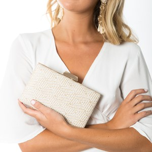 Patterned Weave Structured Clutch