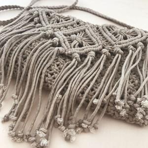 Rectangle Macrame Flap Over Bag