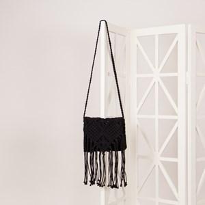 Square Macrame Flap Over Bag