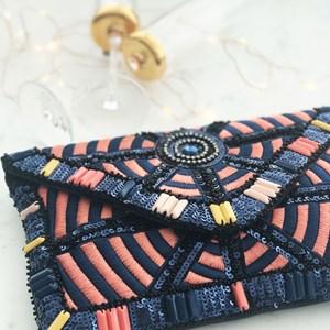 Stitch & Sequin Envelope Clutch
