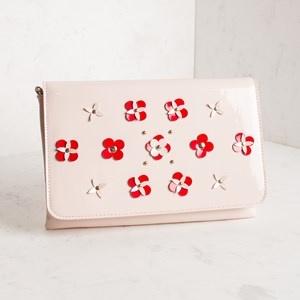 3D Flower Fold Over Clutch
