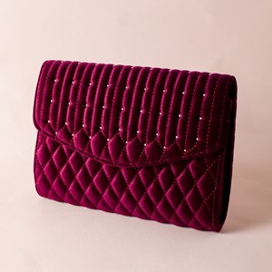 Quilted Studded Front Clutch