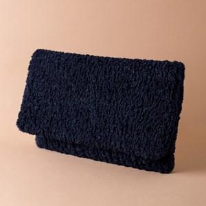 Lambie Faux Fur Flapover Clutch