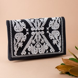 Patterned Front Flap Over Clutch