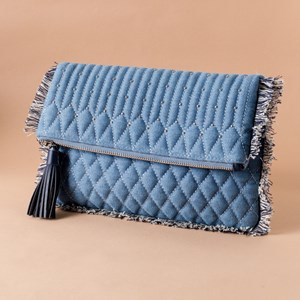 Quilted Mini Stud Flap Over Clutch