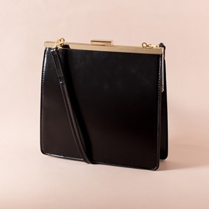 Slim Square Structured Purse Bag