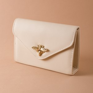 Bumble Bee Clasp Flap Over Box Clutch