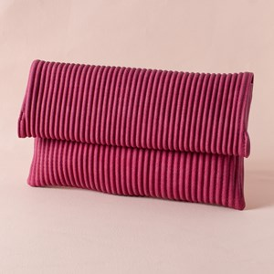 Pleated Fold Over Soft Clutch