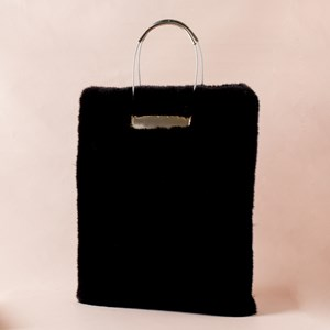 Metal Rope Ring Fur Bag