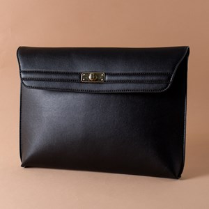 Flap Over Large Buckle Front Clutch