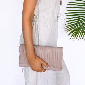 Pleated Clutch Fold Over Clutch