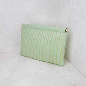 Stitched Lines Framed Top Clutch