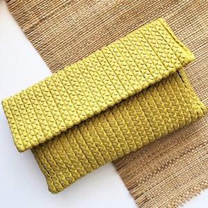 Plaited Fold Over Weekend Clutch