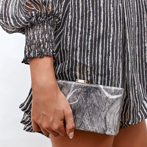 Natural Dreamer Resin Structured Clutch