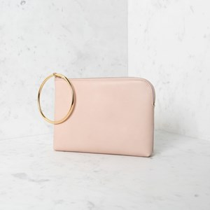 Metal Ring Curved Edge Pouch