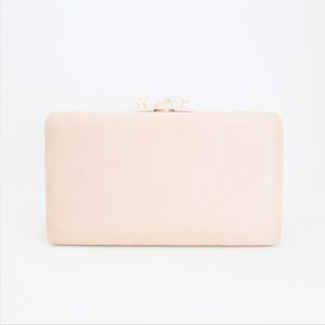 Resin Top Microsuede Structured Clutch