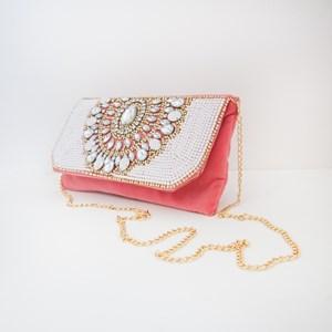 Bollywood Jewel Embellished Velvet Foldover Clutch