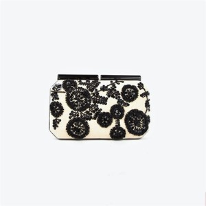 Seed Bead & Sequin Flowers Structured Clutch