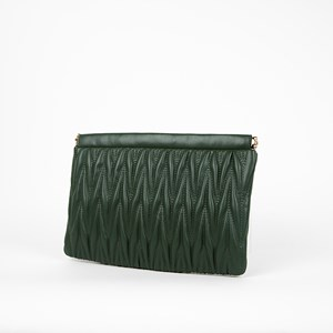 Quilted Tribal Metal Frame Rectangle Clutch