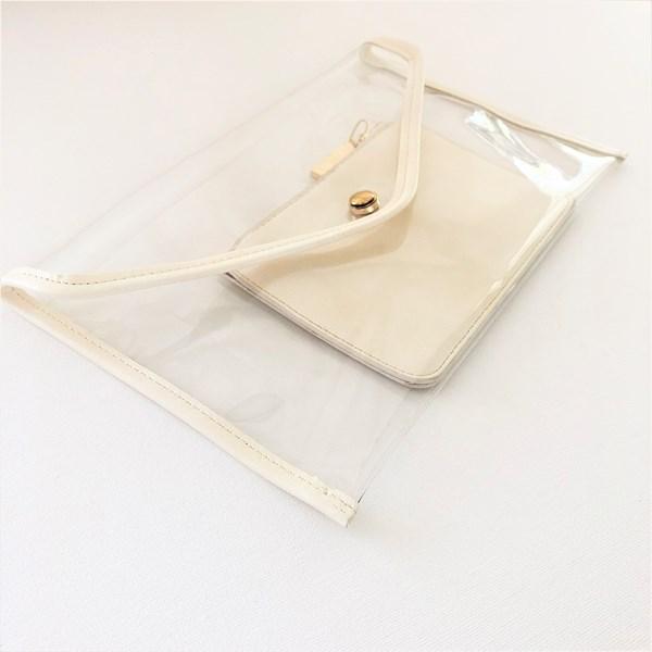 Clear Envelope Clutch Contrast Purse Clutch