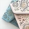Cut Out Flowers & Studs Envelope Clutch - pr_60196
