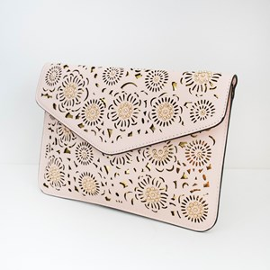 Cut Out Flowers & Studs Envelope Clutch