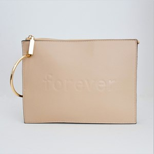 Forever Ring Handle Double Compartment Clutch