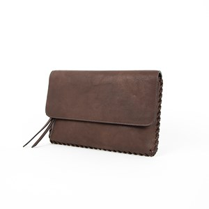 Blanket Stitch Flap Over Boho Clutch