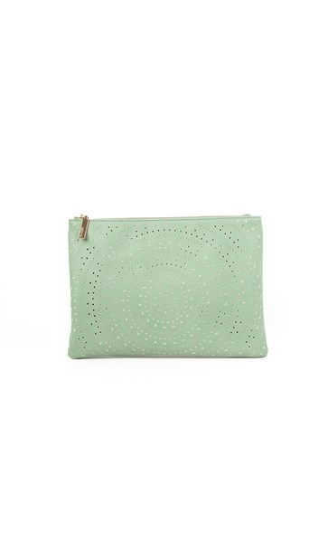 Diamond Circle Cutout Rectangle Clutch