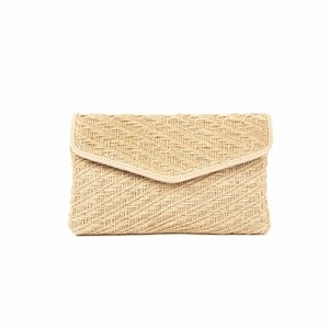 Natural Hessian Weave Envelope Clutch
