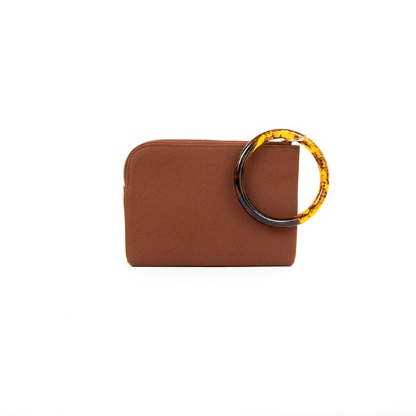 Resin Ring Vegan Suede Pouch
