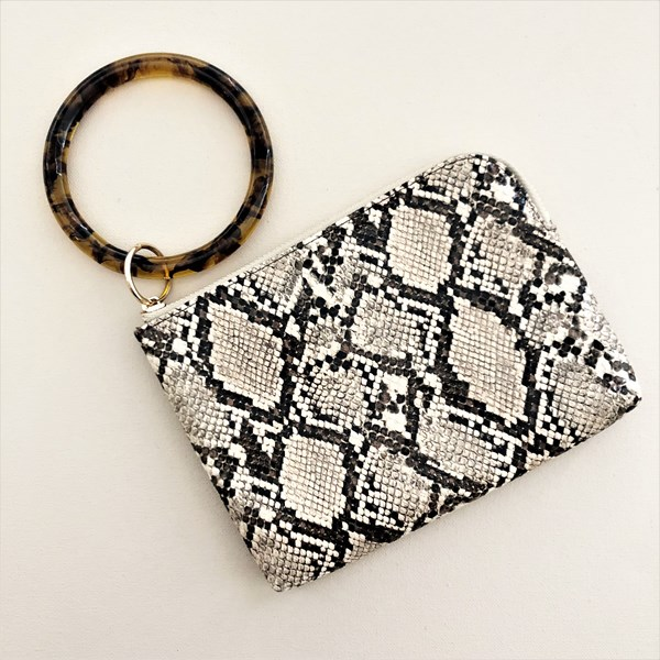 Snake Print Resin Ring Pouch