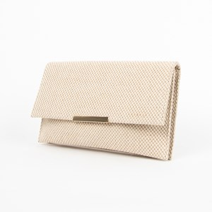 Natural Textured Flap Over Clutch
