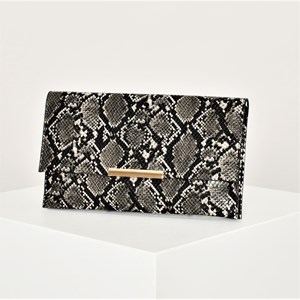 Faux Snake Flap Over Clutch
